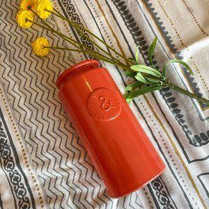 Retro Style Bright Orange Vase Decor